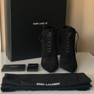 Yves Saint Laurent YSL Era Suede Ankle Boots